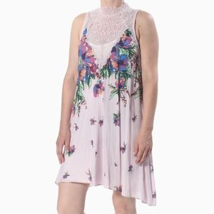 NWT FREE PEOPLE | PINK LACE CUT OUT DRESS